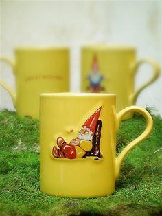 Yellow French Gnome Mugs via Posh Chicago $15/each