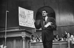 """""""Pulpit comparison of a Presley poster and Bible is drawn by a Baptist preacher, Robert Gray."""""""
