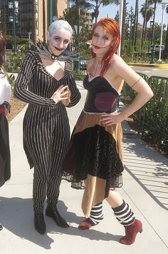 Jack and Sally from the Nightmare Before Christmas, Exploring the #DisneySide of WonderCon 2014 #cosplay