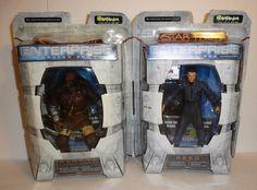 Lot of 2 Star Trek Enterprise Action Figures Klaang Klingon and Reed Broken Bow #ArtAsylum