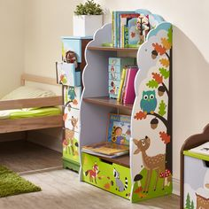 Shop for Fantasy Fields Enchanted Woodland Bookshelf.Save room for reading! The Enchanted Woodland bookcase is just the place to store all of your children‰۪s favorite bedtime stories, pictures, and trophies! Toddler Bookcase, Bookshelves Kids, Toy Storage Boxes, Kids Storage, Wooden Bookcase, Toddler Furniture, Furniture Deals, Playroom, Kids Room