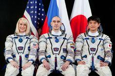NASA astronaut Kate Rubins, Russian cosmonaut Anatoly Ivanishin and Japan Aerospace Exploration Agency astronaut Takuyaa Onishi