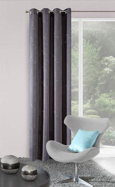 Dekorační tmavě šedý závěs s kruhy Curtains, Home Decor, Blinds, Decoration Home, Room Decor, Draping, Home Interior Design, Picture Window Treatments, Home Decoration