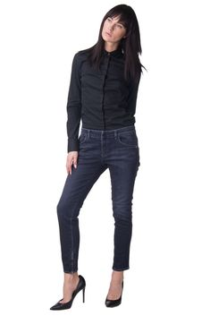 811e0142 EMPORIO ARMANI JEANS Grey Jeans Size 31 Stretch Embroidered Cropped #fashion  #clothing #shoes #accessories #womensclothing #jeans (ebay link)