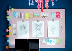 Inspiraatiotaulu syntyy itse tehden edullisesti. Valmis taulu ilahduttaa työhuoneessa tai eteisessä. Katso ohjeet!