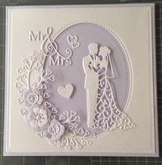 New Diy Wedding Cards Handmade Crafts Valentines Day 49 Ideas Wedding Day Cards, Wedding Shower Cards, Wedding Cards Handmade, Wedding Anniversary Cards, Handmade Birthday Cards, Greeting Cards Handmade, Wedding Card Maker, Tattered Lace Cards, Engagement Cards
