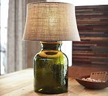 Clift Glass Small Cylinder Table Lamp Base, Green