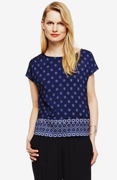 Vince Camuto 'Heritage Medallion' Blouse available at #Nordstrom