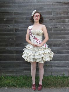 21-year-old Jori Phillips crafted a  dress made entirely out of the pages of a thesaurus.