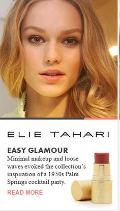 Beauty Trends 2013 ll Elie Tahari Easy Glamour Runway Recap Spring 2013