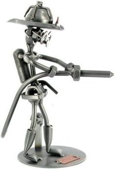 nuts+and+bolts+metal+art | Fireman with Hose Nuts and Bolts Figure - Nuts & Bolts Figures ... | Creative Art | Pinterest | Firemen, Metal Art and Metals
