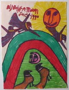 This drawing by afroamerican artist John Richard Mason will soon be on www. Outsider Art, Drawings, Artist, Painting, Random Stuff, Artists, Painting Art, Sketches, Paintings