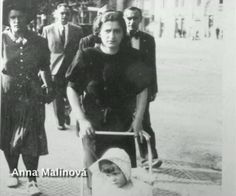 Anna Malinová with her daughter. Like her friend Marie Kovárníková, she helped the paratroopers. She was widow and was, allegedly, in relationship with Jozef Gabčík. Anna sheltered him at her home after the assassination till his shelter in the crypt. She was executed in Mauthausen