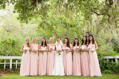 Gorgeous blush bridesmaid dresses // photo by www.hollygardner.com, planning by www.shelbypeadenevents.com