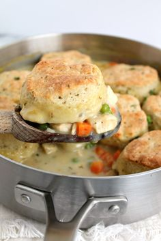Lightened Up Chicken Pot Pie - Recipe from @marnely_murray at Cooking with Books