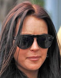 Lindsay Lohan, America's favorite hot mess, covers her hangover grimace in this popular Persol frame.