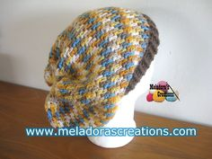 Crochet tutorial that teaches you how to crochet the Thick Mesh Slouch Hat. This hat is great for men! For written pattern http://www.meladorascreations.com/...
