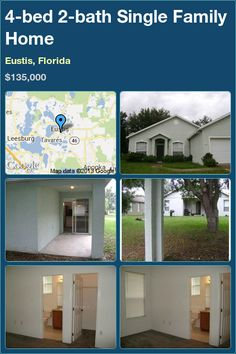 4-bed 2-bath Single Family Home in Eustis, Florida ►$135,000 #PropertyForSale #RealEstate #Florida http://florida-magic.com/properties/2429-single-family-home-for-sale-in-eustis-florida-with-4-bedroom-2-bathroom