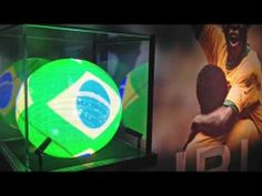 To celebrate the forthcoming FIFA World Cup in Brazil, the King of Football, Pele, executes a spectacular overhead kick in the Hublot Sphere showcase. Fifa World Cup, Display Case, Brazil, Football, King, Watches, Glass Display Case, Soccer, Display Window