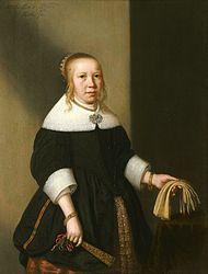 Jan Albertsz. Rotius, Portrait of an eleven-year-old girl - 1659,  Hoorn Westfries Museum