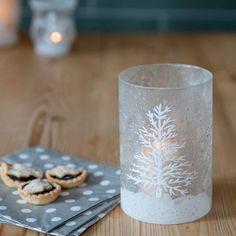 The Christmas Home Snow Scene Tea Light Holder