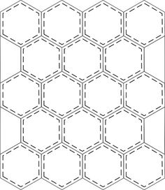 Another option for hexagon quilting