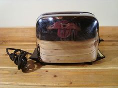 Vintage Toastmaster Chrome Silver Black 2 Slice Toaster 1B24 | eBay