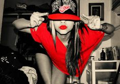Find images and videos about girl, fashion and cute on We Heart It - the app to get lost in what you love. Black Girl Swag, Pretty Girl Swag, Hip Hop Fashion, Girl Fashion, Red Wings Hat, Swagg, Everyday Look, Headpiece, Color Pop