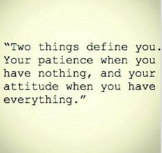 The 2 things that define you.