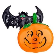 Bargain - For some fun Halloween party decorations, a large inflatable bat, pumpkin or skeleton will bring the place to life! Halloween Goodies, Halloween Items, Halloween Fashion, Halloween Party Decor, Spooky Halloween, Halloween Costumes, Party Poppers, Halloween Inflatables, Thing 1