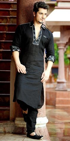 Attractive Black Kurta Suit for Special Occasion-7