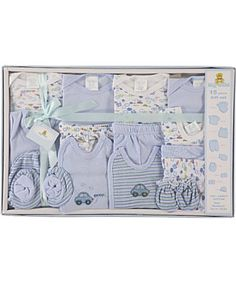 "Amazon.com: Big Oshi ""Going Places"" 15-Piece Layette Gift Set (Newborn Size) - blue, one size: Clothing"