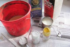 Make your own milk paint... simple recipe.