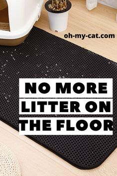 New Litter Cat: No more litter everywhere on the floor ! Such a pain reliever. This litter mat is a double layer mat, so the litter is stuck between layers. Cat Litter Mat, Cat Mat, Litter Box, Cat Products, Little Kitty, Animal Projects, Cool Cats, Layers, Cleaning