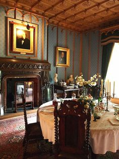 Town and Country — Dining Room, Hughenden Manor, Buckinghamshire,...