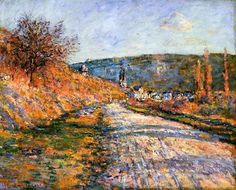 (9) Tumblr.   The Road to Vetheuil Claude Monet - 1880