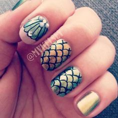 Nageltrend: zeemeerminnagels - Beauty - Flair(1) girls #mermaid
