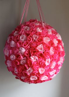 Wedding Pinata - Rose Kissing Ball. $219.00, via Etsy. For Valentines Day Party