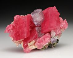 Rhodochrosite with Fluorite from China