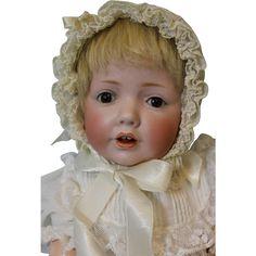 Antique 16 inch German Bisque JDK 237 Hilda Character Baby Doll by Kestner c.1915