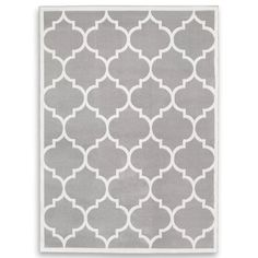 Marlow Home Co. Thelma Tufted Silver/White Rug & Reviews | Wayfair.co.uk Silver Grey Rug, Grey And White Rug, Black Rug, Trellis Rug, Carpet Size, Machine Made Rugs, Traditional Furniture, Contemporary Rugs, Interior Design