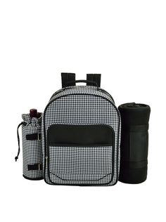 Picnic at Ascot Picnic Backpack for 4 with Blanket, Houndstooth at MYHABIT