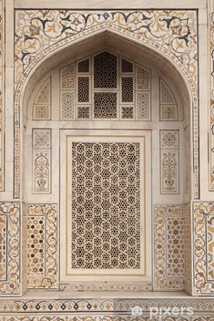 Mughal tomb (I'timad-ud-Daulah) in Agra, India Wall Mural ✓ Easy Installation ✓ 365 Days to Return ✓ Browse other patterns from this collection! Mughal Architecture, Architecture Portfolio, Futuristic Architecture, Art And Architecture, Architecture Details, Beautiful Architecture, Cool Doors, Moorish, Agra