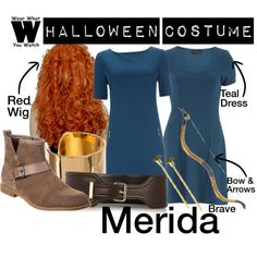 A Halloween Costume how-to inspired by Disney's Merida from 2012's Brave.