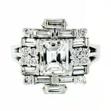 Emerald White Gold Diamond Engagement Rings for sale | eBay