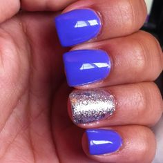 more perfect summer nailks blue and sparkles