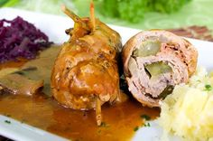 Polish Recipes, Tortellini, Baked Potato, Potatoes, Cooking Recipes, Baking, Ethnic Recipes, Food, Meat