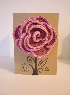 crochet rose corsage & hairslide in one!