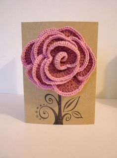 crochet rose corsage & hairslide in one!