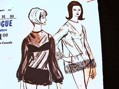 Vintage 1960s Swimsuit Pattern Misses size 10 Womens Beach Sheer Coverups, Bikini Bathing Suit Vogue Sewing Pattern by PatternsFromThePast